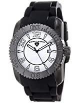Swiss Legend Men's 20068-BB-02 Commander Collection Black Ion-Plated White Dial Watch