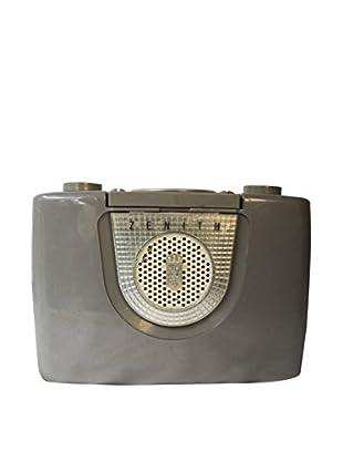 1950s Vintage Zenith Top Handle Radio, Grey/Silver