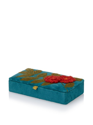 Purva Crochet Jewelry Box (Royal Teal)