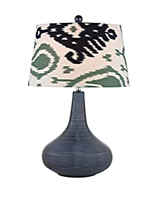 Artistic Lighting Navy Blue Textured Ceramic Table Lamp