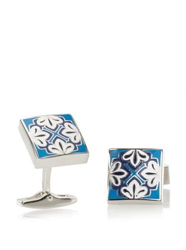 Daniel Dolce Men's Enamel Cufflinks, Blue