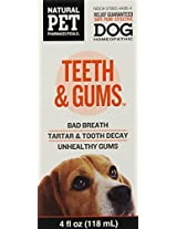 Natural Pet Pharmaceuticals by King Bio Teeth and Gums Control for Dog, 4-Ounce