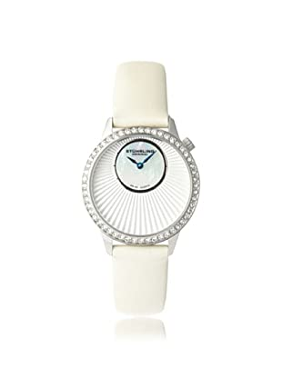 Stuhrling Original Women's 336.121P2 Vogue Audrey Radiant White/White Mother of Pearl Subdial Watch
