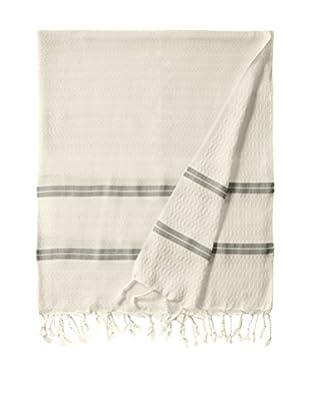 Nomadic Thread Handwoven Towel Pique, Natural/Black