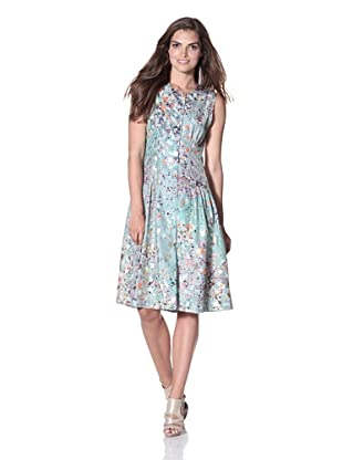 Cynthia Rowley Women's Silk Confetti Shirt Dress (Mint)