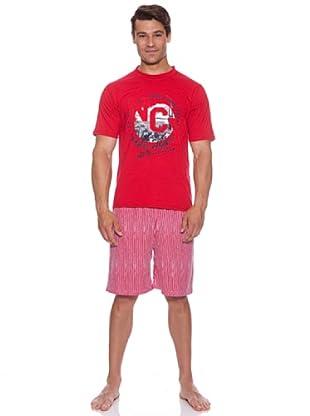 Blue Dreams Pijama Caballero (Rojo)