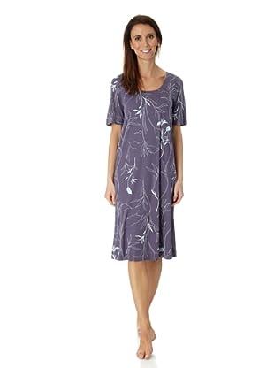 Hanro Nachthemd 1/2 Arm 100 cm Ladies`Night (Lila)