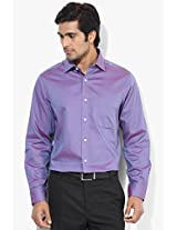 Purple Regular Fit Formal Shirt Arrow