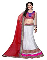 SURUPTA Fascinating White Wedding Party Wear Lehenga Choli