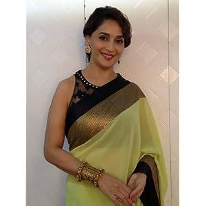 Get Style Madhuri Dixit Saree - Green