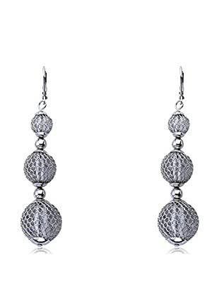 Riccova Country Chic Triple-Drop Mesh Over Lucite Earrings, Silver