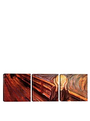 iCanvasArt Edvard Munch: The Scream Panoramic Giclée Triptych