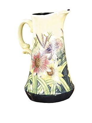 Dale Tiffany English Garden Decorative Jug, Cream Multi