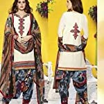 Cambric Cotton Dress Material With Dupatta . With 3 meters bottom