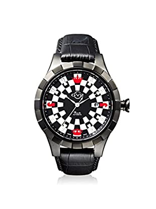 GV2 by Gevril Men's 9501 Scacchi Black Leather Watch
