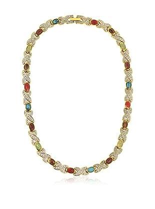 Shiny Cristal Halskette goldfarben