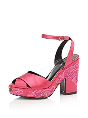 Philosophy di Alberta Ferretti Women's Embroidered Platform Sandal (Fuchsia)