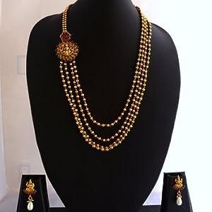 Laxmi necklace - 27 temple jewellery