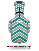 Zig Zag Teal And Gray Decal Style Skin (Fits Tritton Ax Pro Gaming Headphones Headphones Not Included)