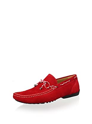 Mezlan Men's Slipon Sude Driver with Woven Lace (Red)