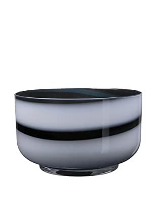Kosta Boda Twist Bowl, Black/White