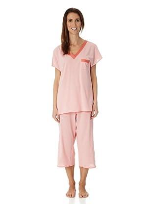 Hanro Pyjama 1/2 Arm St.Tropez (Rot)