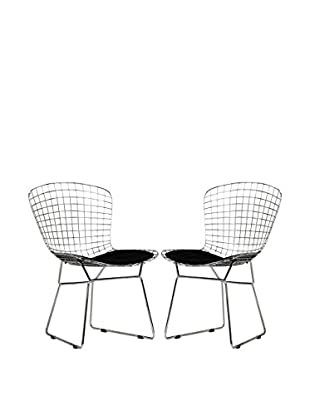 Modway Set of 2 Cad Dining Chairs, Black