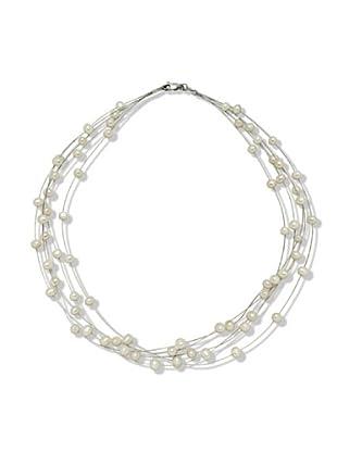 Valero Pearls 400311 - Collar de mujer de plata con perla cultivada de agua dulce, 50 cm