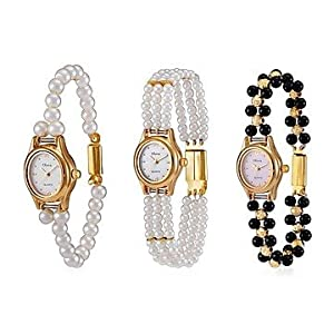 Oleva Pearl Watches Set of Three