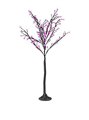 LED Purple Cherry Blossom Tree, Blue Bulbs