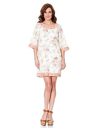 Cortefiel Kleid Bedruckt (Creme)