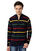 Allen Solly Navy Blue Sweater With Stripes