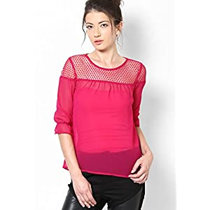Tickle Me Pink Tunic With Dot Net Yoke MB