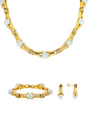 FROUFROU Conjunto de cordón, colgante, pulsera y pendientes Pearl