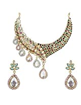 Austrian Diamond Necklace Set By Sia Jewellery