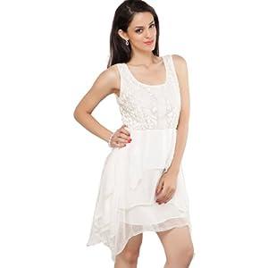 ZARA White Cotton Women - Dresses