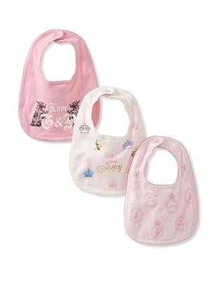 Juicy Baby 3-Pack Bib Set (Pink)