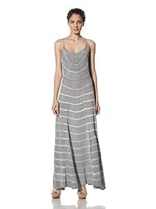Gypsy 05 Women's Cora Silk Maxi-Dress (Grey)