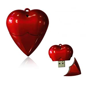 Microware 4GB Plastic Heart Shape Pendrive (Red)