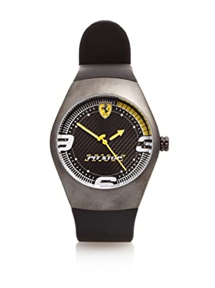 Ferrari Reloj de Carbono Pitstop Dial (Negro / Amarillo)