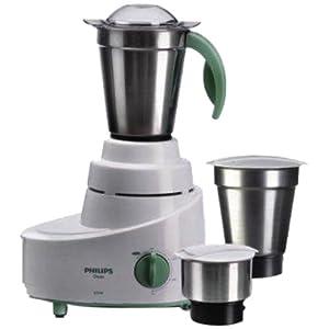 Philips HL1606 500-Watt 3 Jar Mixer Grinder (Green)