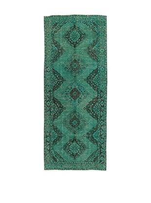 Design Community By Loomier Teppich Anatolian Vintage flaschengrün 142 x 350 cm