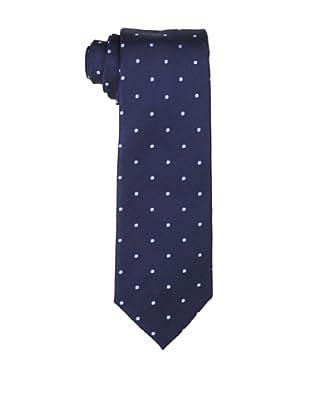 Yves Saint Laurent Men's Dot Tie, Light Blue/Navy