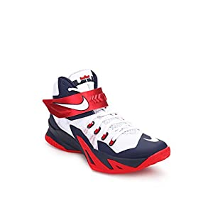 Zoom Soldier Viii White Basketball Shoes