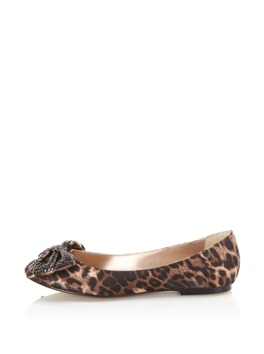 STEVEN by Steve Madden Women's Haris Flat with Bow (Leopard)