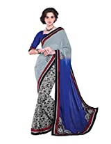Pikasho Party Wear Cutpatch Saree 8010