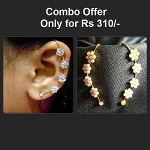 Earrings - Golden Stone Kaan Ear Cuff Earrings