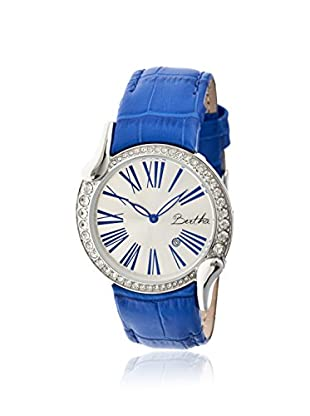 Bertha Women's BR2508 Olive Blue/Silver Leather Watch
