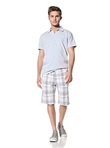 Tailor Vintage Men's Walking Shorts (Blue Grass Plaid)