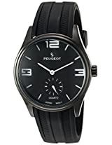 Peugeot Men's 2042WBK Black Rubber Sport Watch
